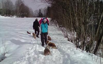 En flott dag i snøen